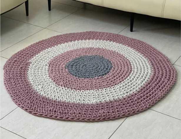 שטיח חמסה עגול ורוד