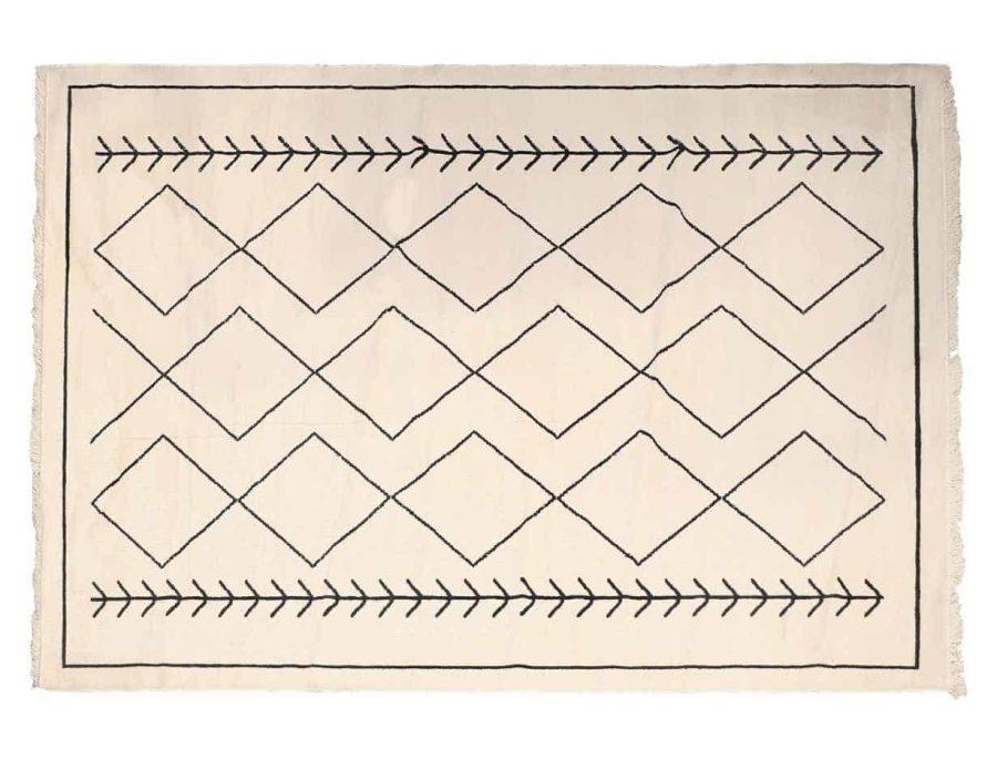 שטיח לסלון בצבע שמנת עשוי כותנה - מרקו פולו
