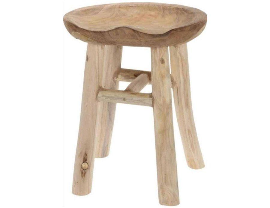 שרפרף עץ טיק 4 רגליים