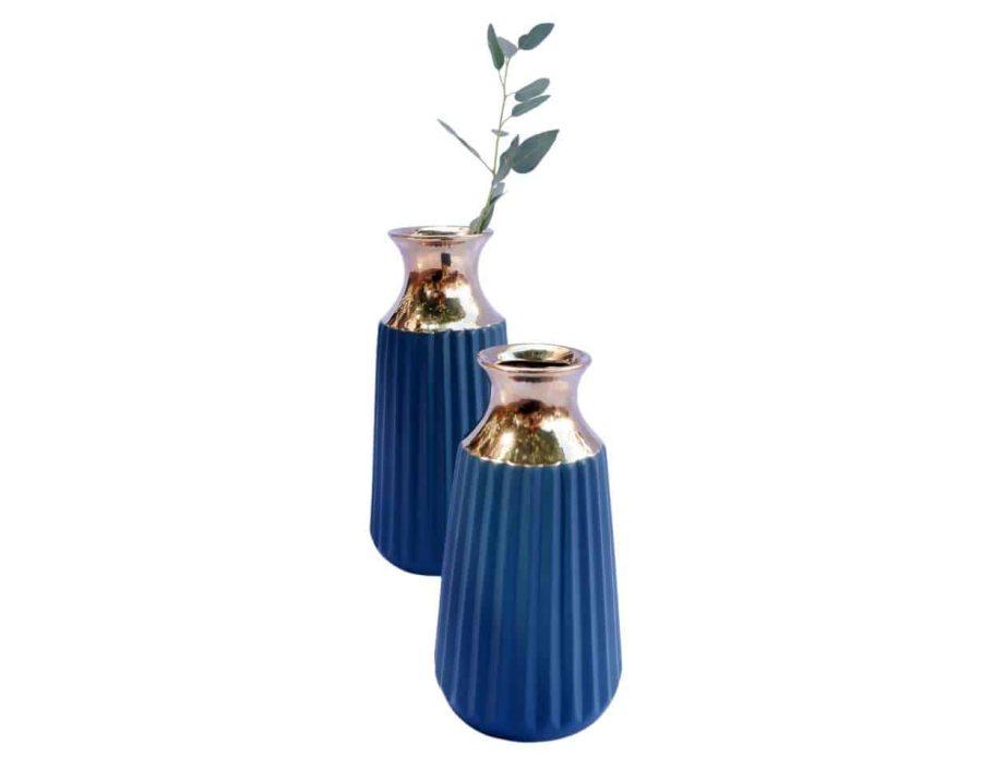 אגרטל מודרני בצבע כחול