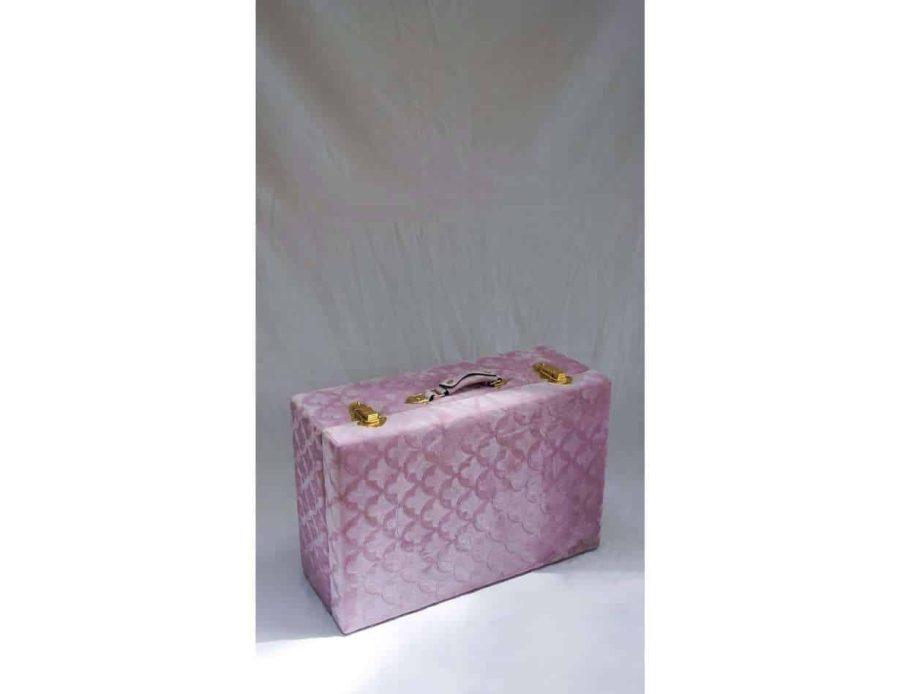 מזוודות אחסון נפתחות בצבע ורוד