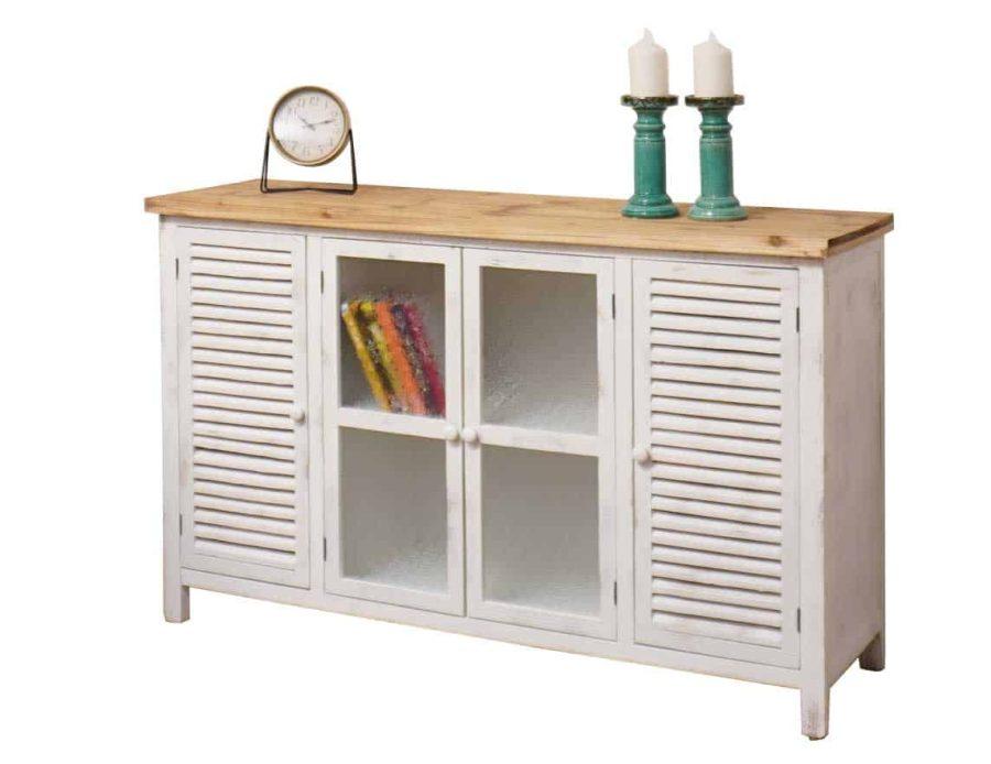 מזנון עץ בצבע לבן לסלון