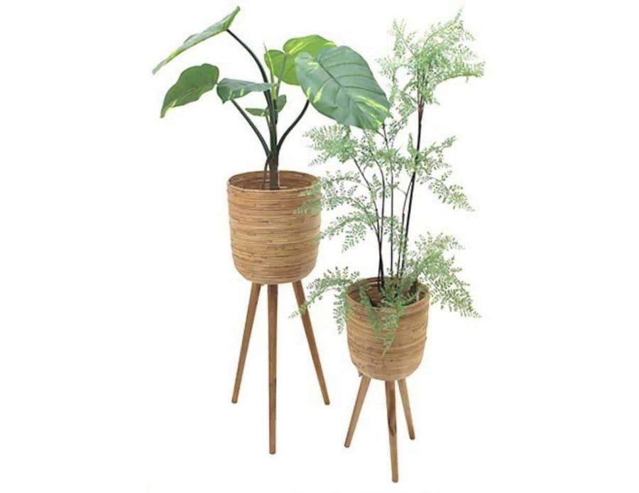 מעמדי עציצים ראטן - בית עצץ רטן