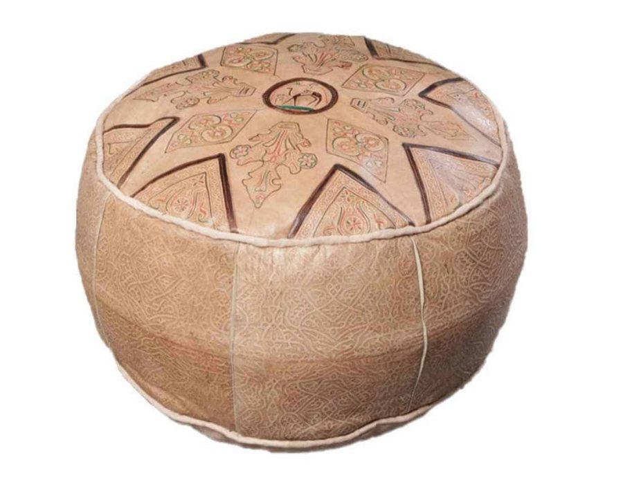 פוף מרוקאי - מרקש הדום חום בהיר