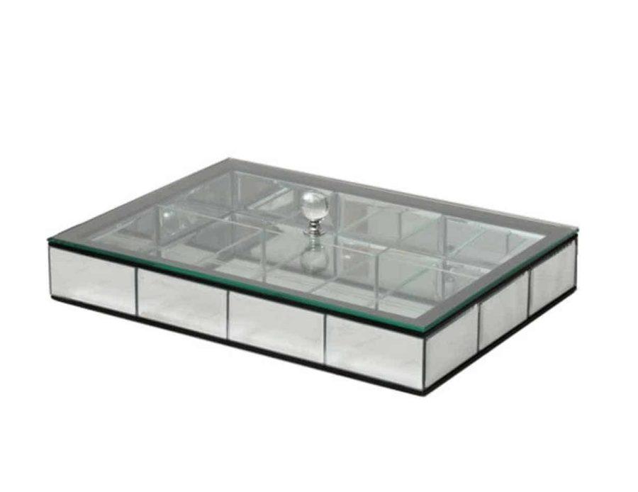 קופסת תכשיטים קברט זכוכית מראה