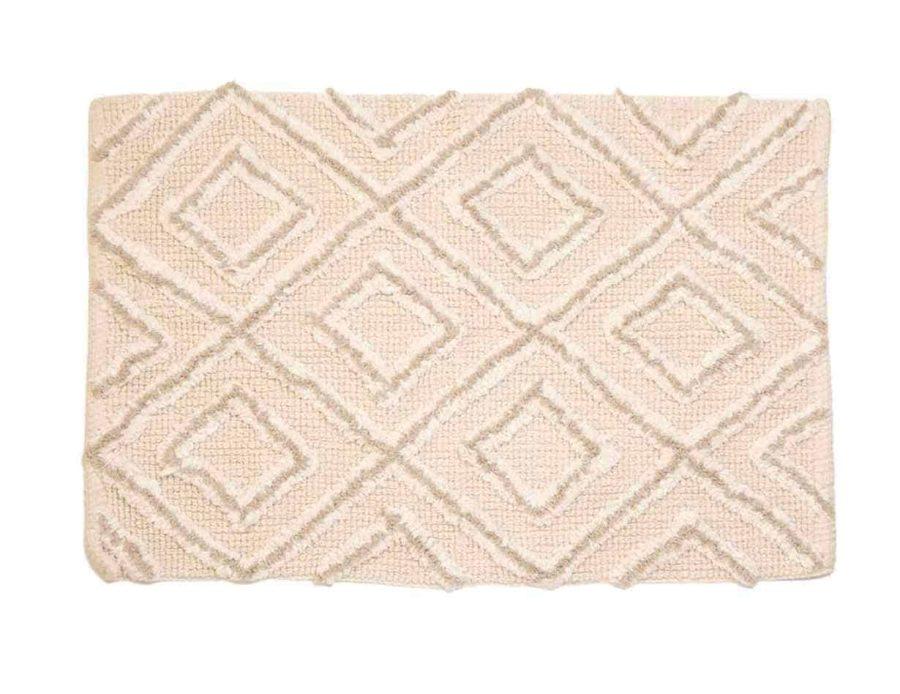 שטיח אמבטיה שמנת בג' הנדה