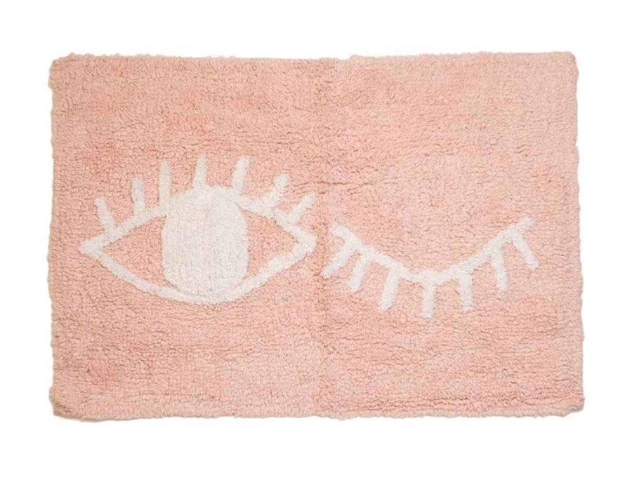 שטיח לאמבטיה ורוד עין