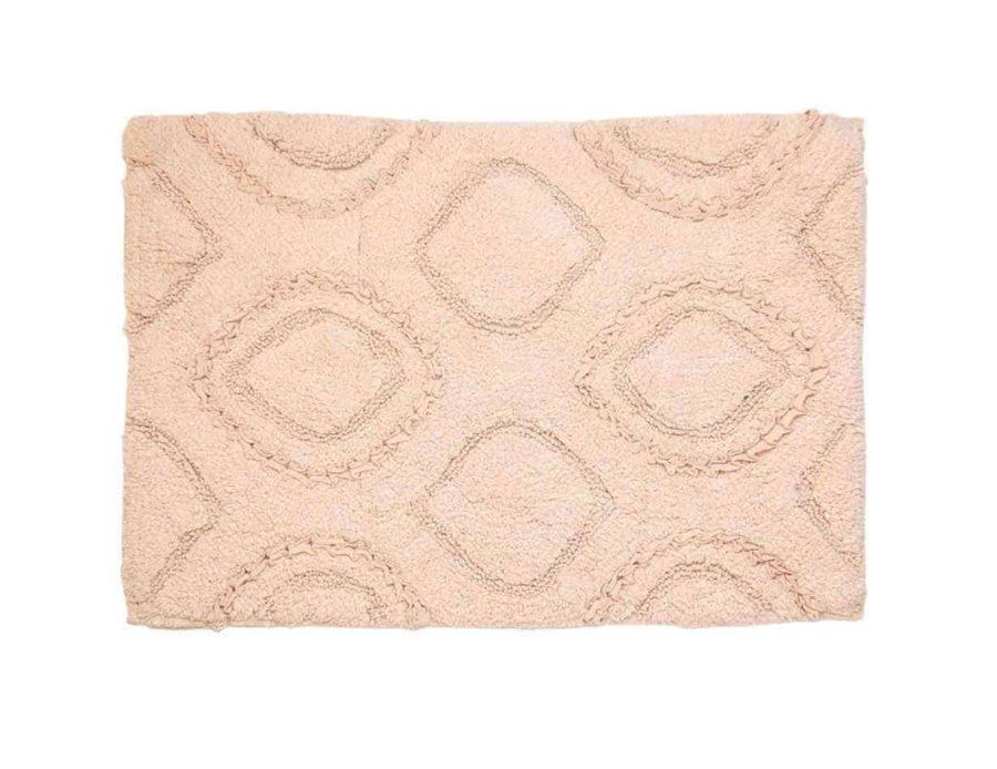 שטיח לחדר אמבטיה בצבע ורוד פודרה