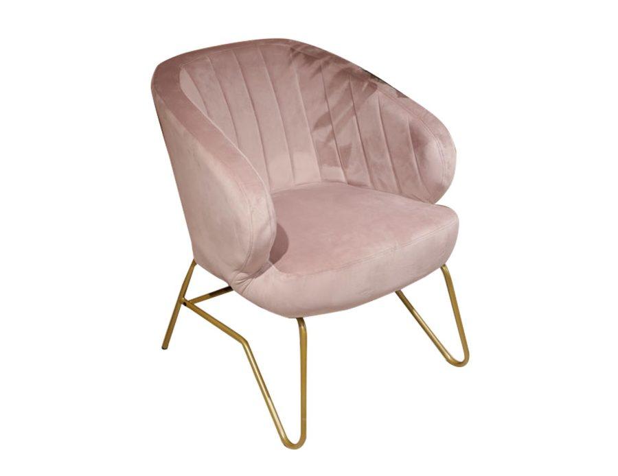 כורסא ורודה לסלון קטיפה