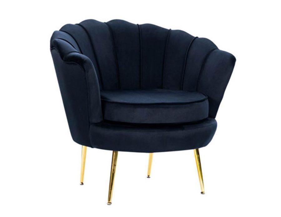 כורסא מעוצבת בצבע שחור