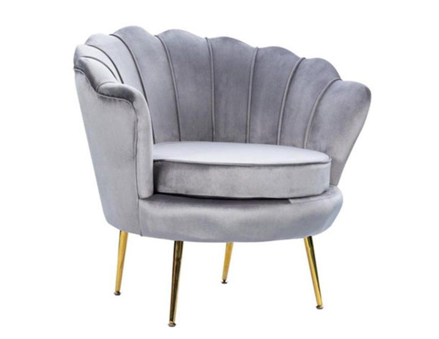 כורסה מעוצבת לסלון בצבע אפור