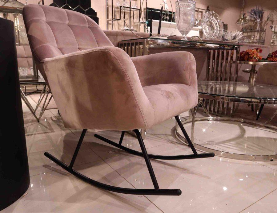 כיסא נדנדה כורסא נדנדה ורודה לסלון
