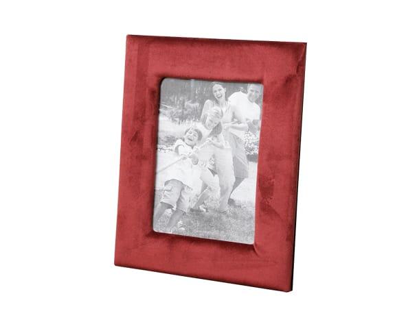 מסגרת תמונה אדומה עם קטיפה