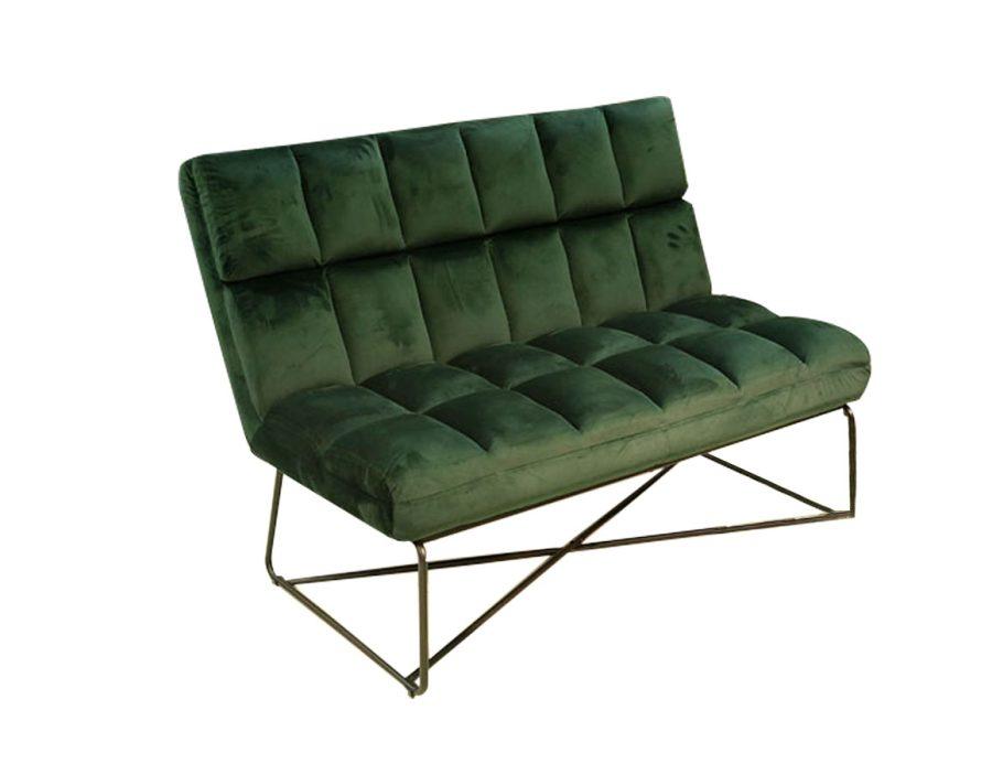 ספה זוגית ירוקה קטיפה באפולו