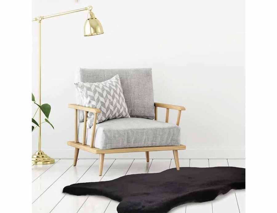 שטיח פרווה שחור לחדר השינה - פנטזיה