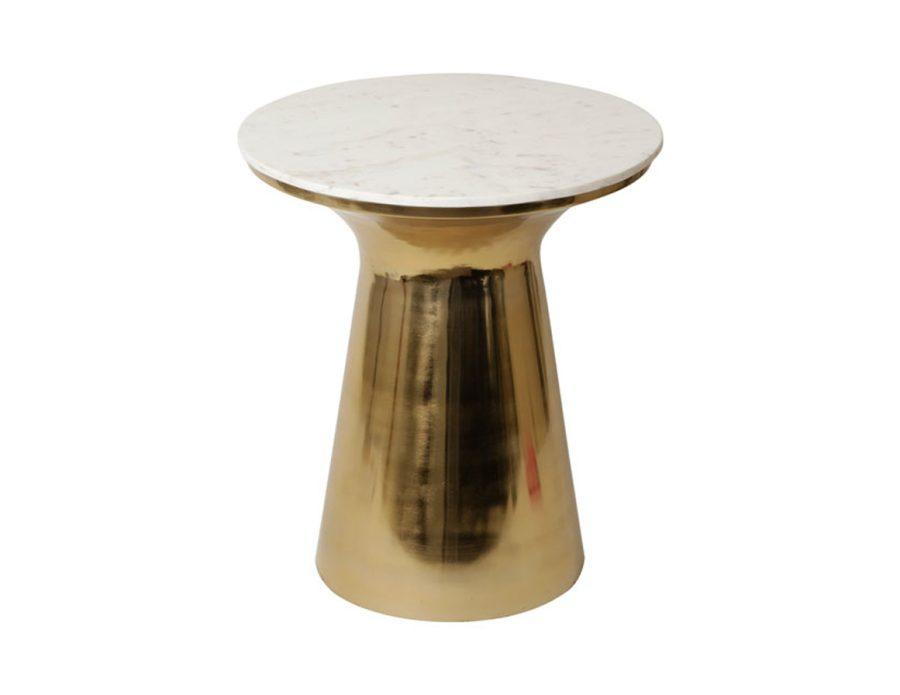 שולחן מתכת זהב MUSHROOM שיש לבן