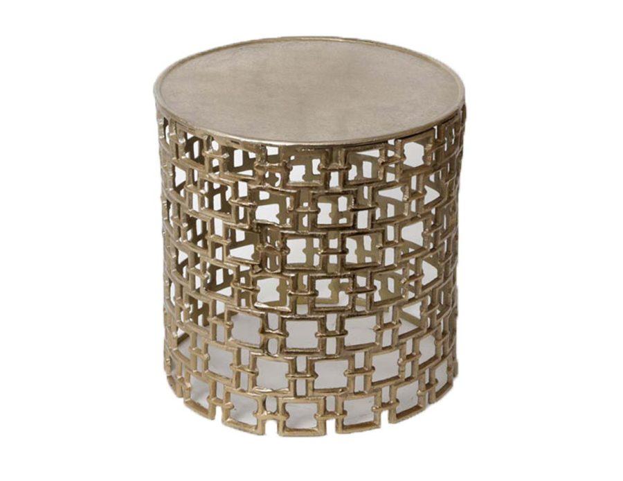 שולחן צד מתכת זהב
