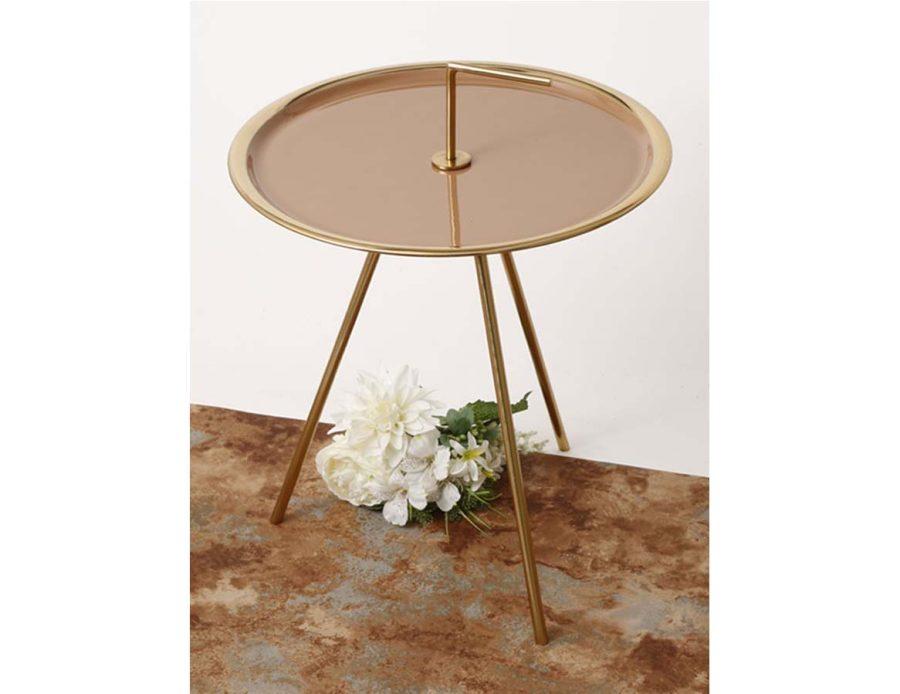 שולחן קפה מתכת עם ידית אחיזה