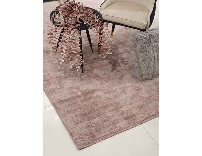 שטיח איכותי לסלון בצבע ורוד ויסקוזה