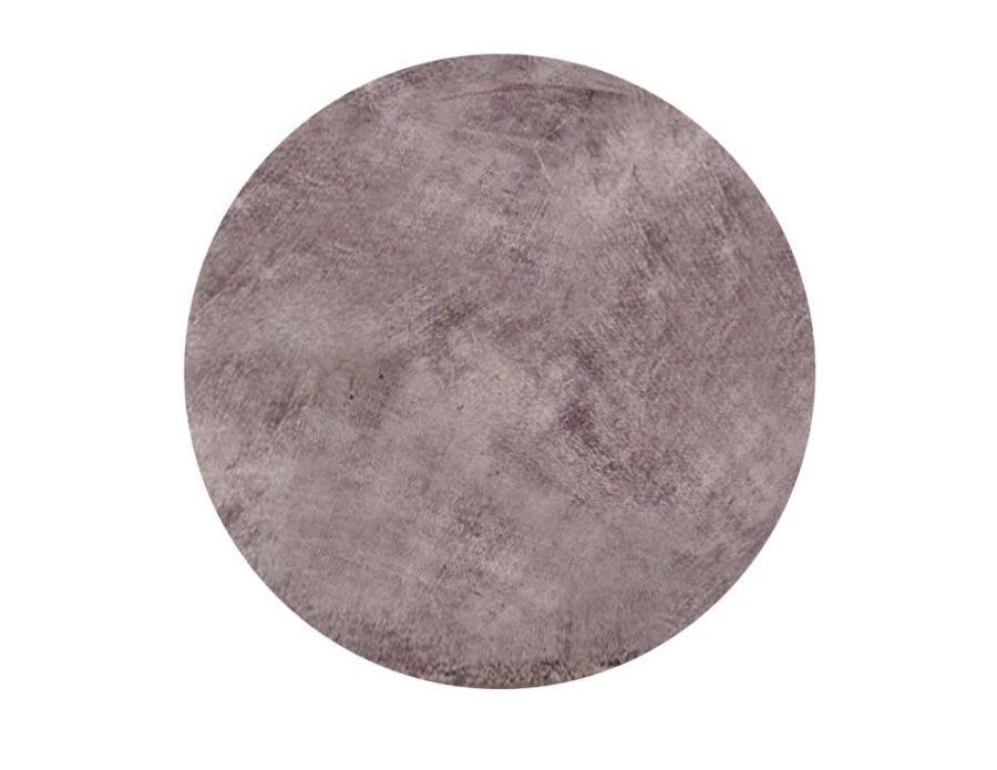 שטיח אפור כהה לסלון עגול