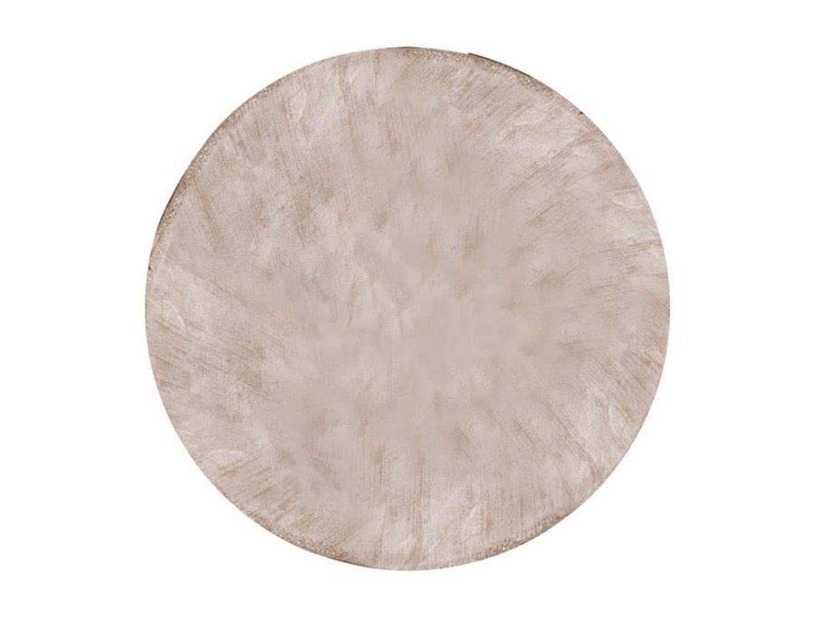 שטיח אפור כסף עגול לסלון