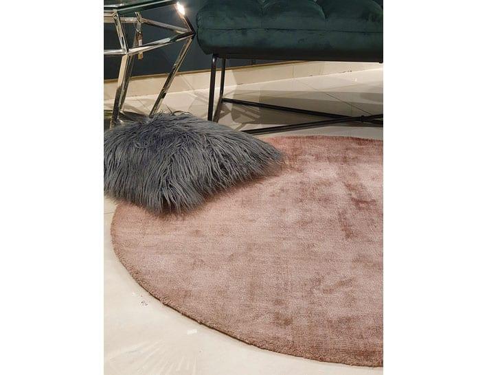 שטיח ורוד עגול לסלון