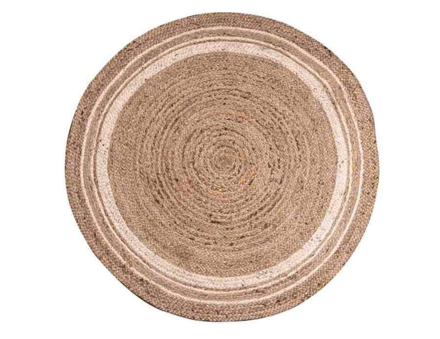 שטיח חבל הודי עגול יוטה בוהו שיק ריו