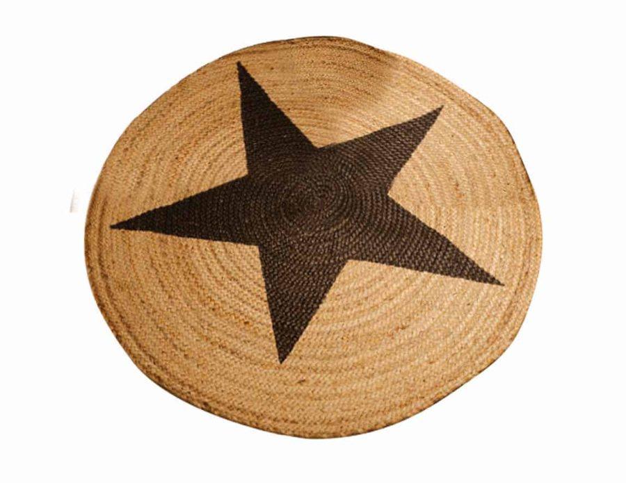 שטיח חבל כוכב שחור