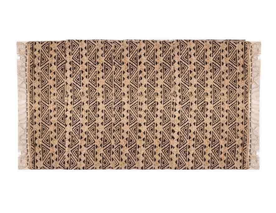 שטיח חבל מעוצב בסגנון בוהו שיק
