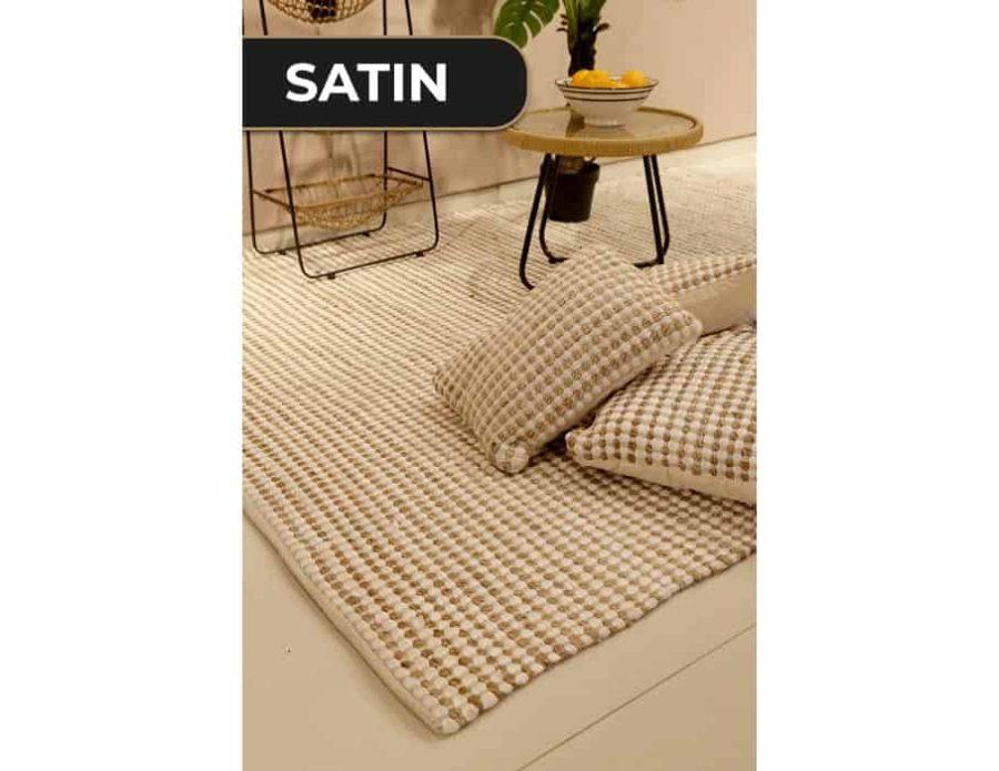 שטיח חבל משולב לבן בוהו