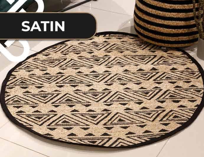 שטיח חבל עגול בעיצוב מודרני