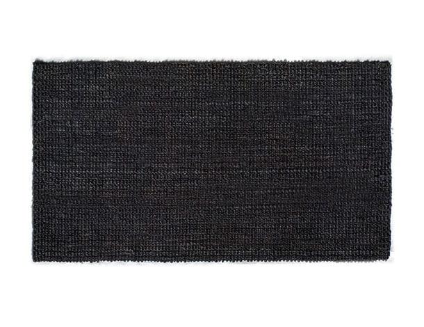 שטיח חבל שחור מלבן