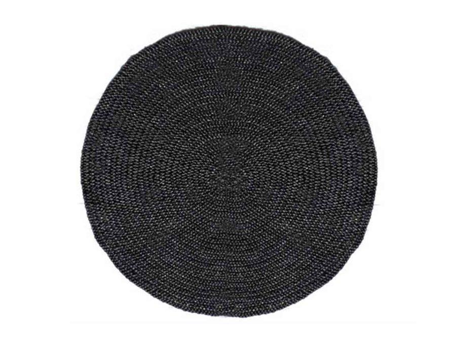 שטיח חבל שחור