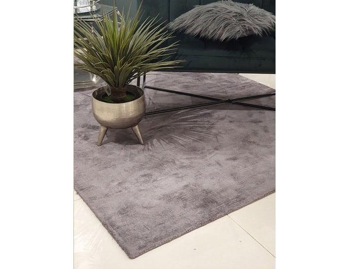 שטיח לסלון אפור כהה ויסקוזה
