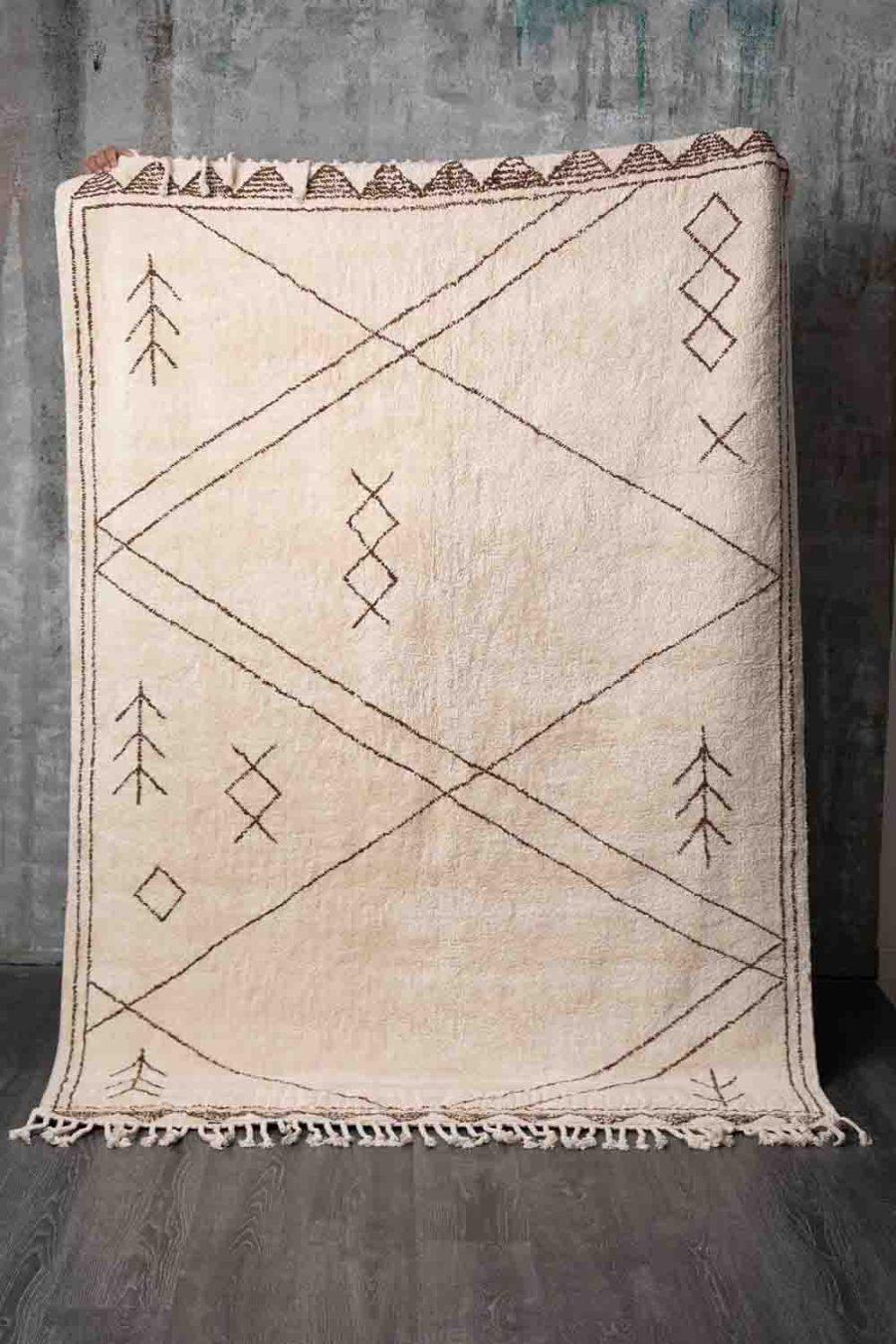 שטיח לסלון ולחדר השינה כותנה בוהו שיק אוניקס
