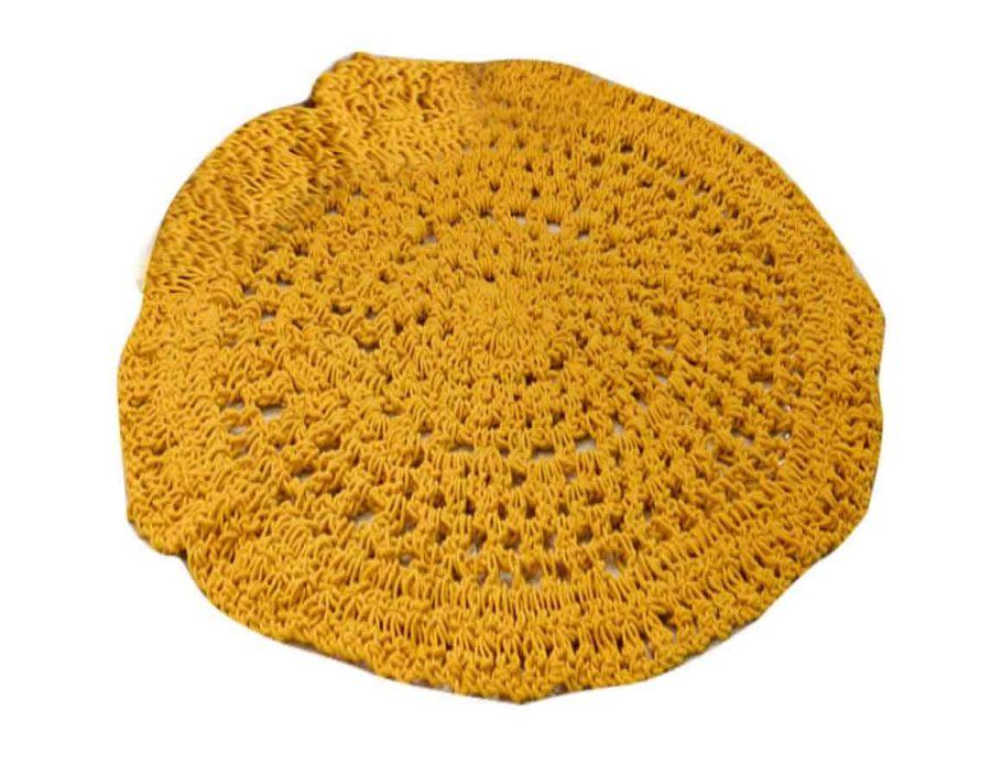 שטיח מקרמה צהוב