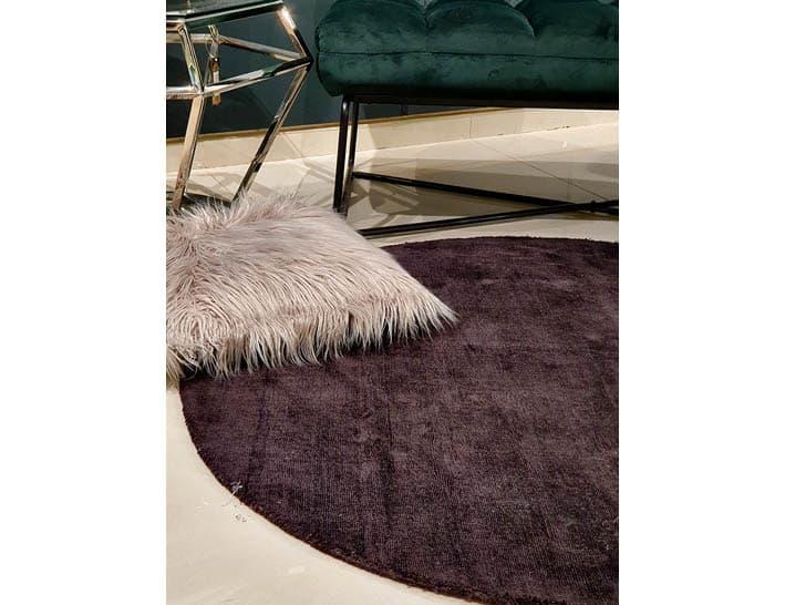שטיח עגול שחור לסלון