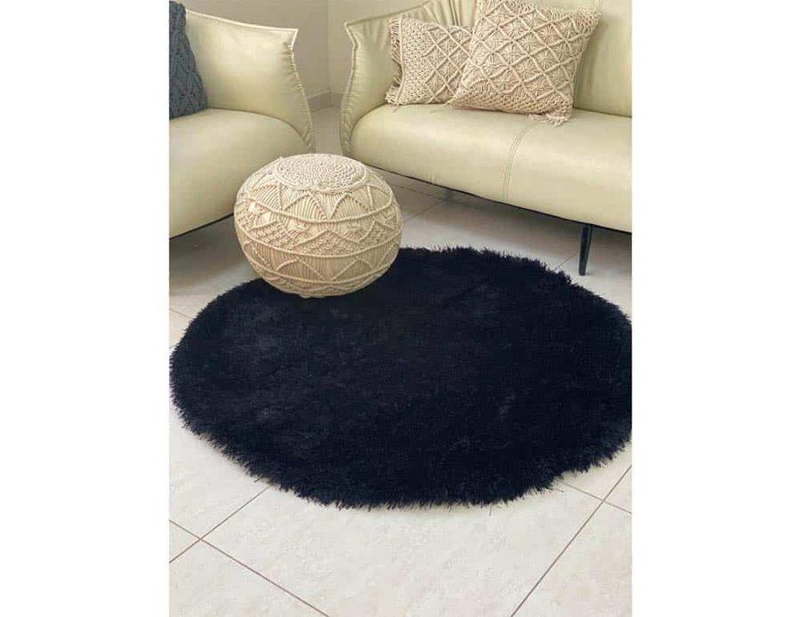 שטיח שאגי שחור סופיה
