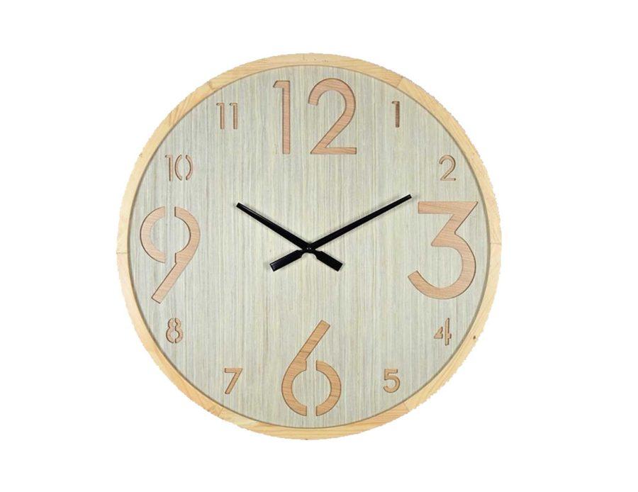 שעון קיר עם מספרים בגדלים שונים
