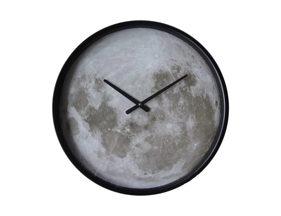 שעון קיר שחור מודרני ירח