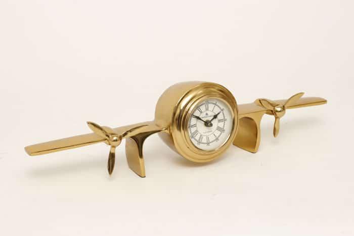 שעון שולחני זהב מטוס