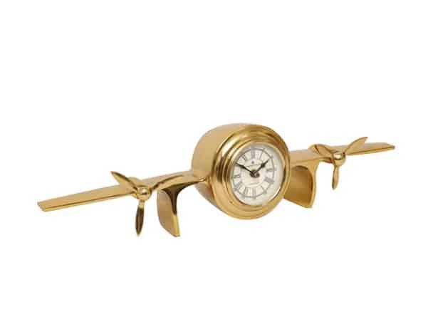 שעון שולחני מטוס זהב עשוי נחושת