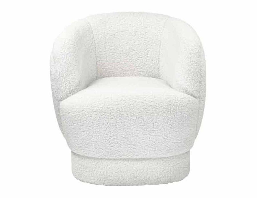 כורסא בוקלה צמר לבן