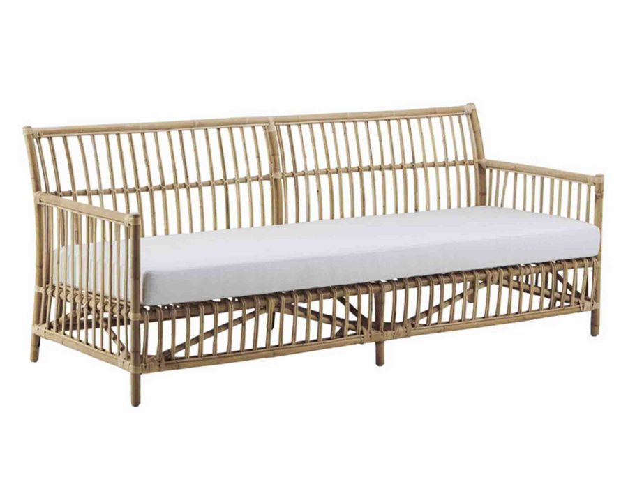 ספה ראטן תלת מושב גדולה עם כרית ישיבה
