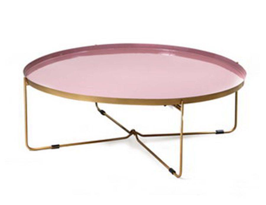 שולחן קפה ורוד עגול