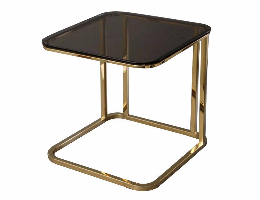 שולחן נשכן נירוסטה זהב