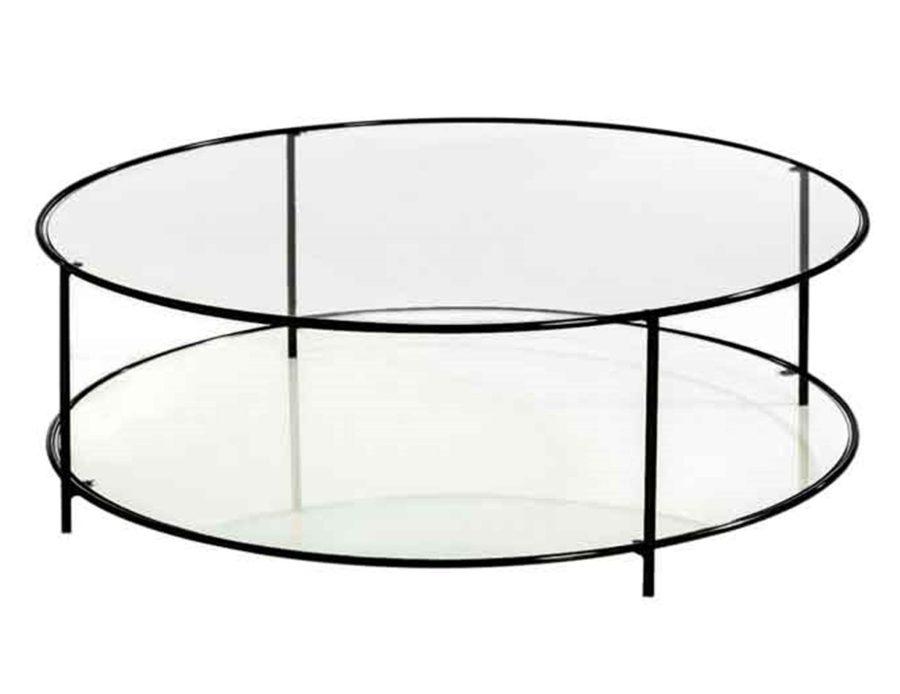 שולחן קפה עגול מזכוכית