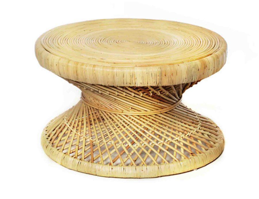 שולחן ראטן טבעי עגול מראטן